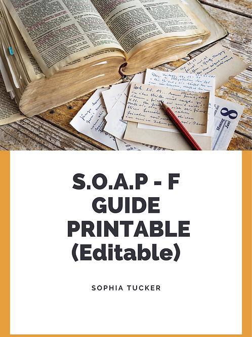 SOAP - F Template - Editable