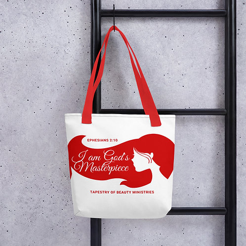God's Masterpiece Red Tote bag
