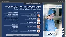 Masterclass en Endourología. Casos clínicos y toma de decisiones