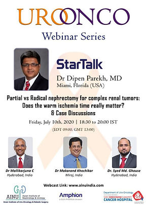 Partial vs Radical nephrectomy for complex renal tumors:  Does the warm ischemia time really matter?  & Case Discussions