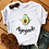 Thumbnail: Avocado, Kawaii and Vegan Women White T-shirt