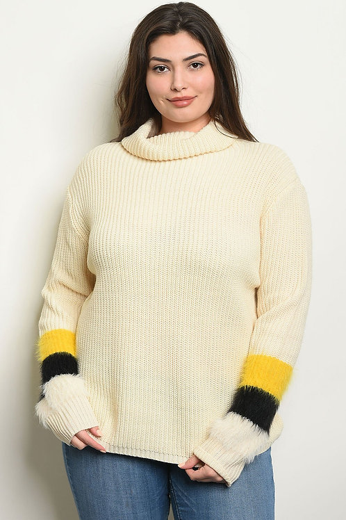 Ivory Plus Size Sweater for women