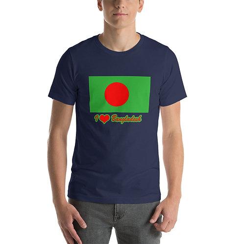 Short-Sleeve Unisex BANGLADESH FLAG T-Shirt