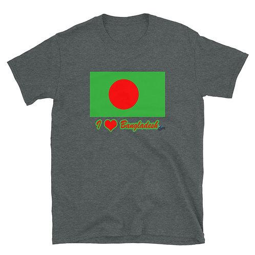 Short-Sleeve Unisex T-Shirt with Bangladesh Flag