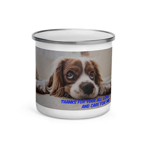 Enamel DOG Mug