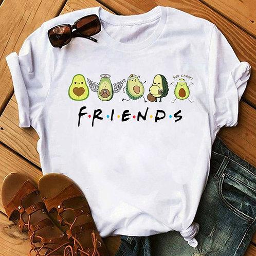 Avocado, Kawaii and Vegan Women White T-shirt