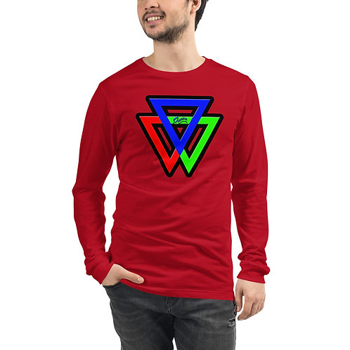 Unisex Long Sleeve TRIANGLES Tee for men and women