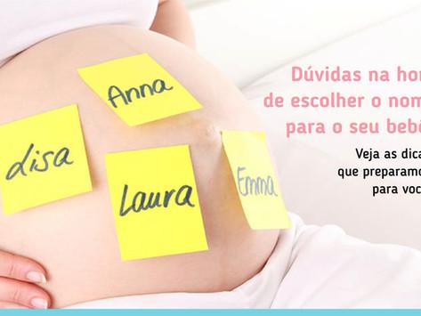 Dúvidas na hora de escolher o nome para o seu bebê?