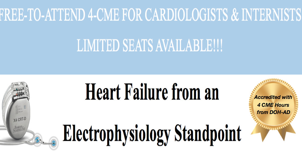 Heart Failure from an Electrophysiology Standpoint - Abu Dhabi