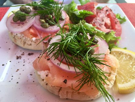 Gravlax on English Muffin
