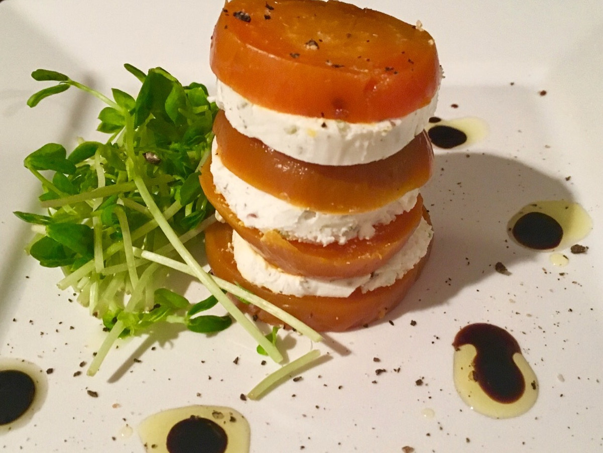 Beet & Goat Cheese Tower