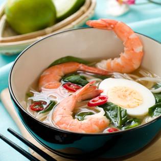 Asian Shrimp & Watercress Soup