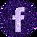 free facebook Purple sparkle social medi