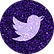 free twitter  Purple sparkle social medi