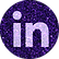 free linkedin Purple sparkle social medi