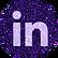 free linkedin Purple sparkle social medi