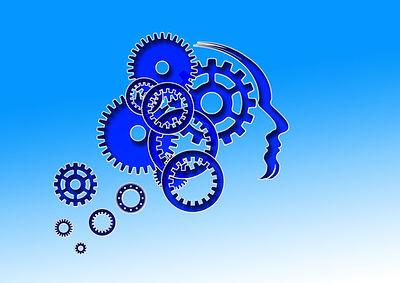 brain made up of cogwheels