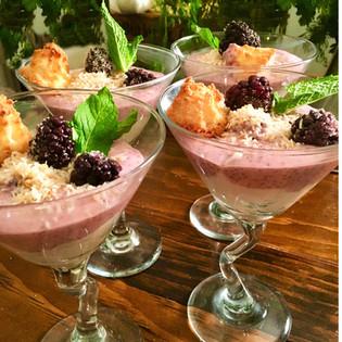 Coconut Blackberry Chia Pudding