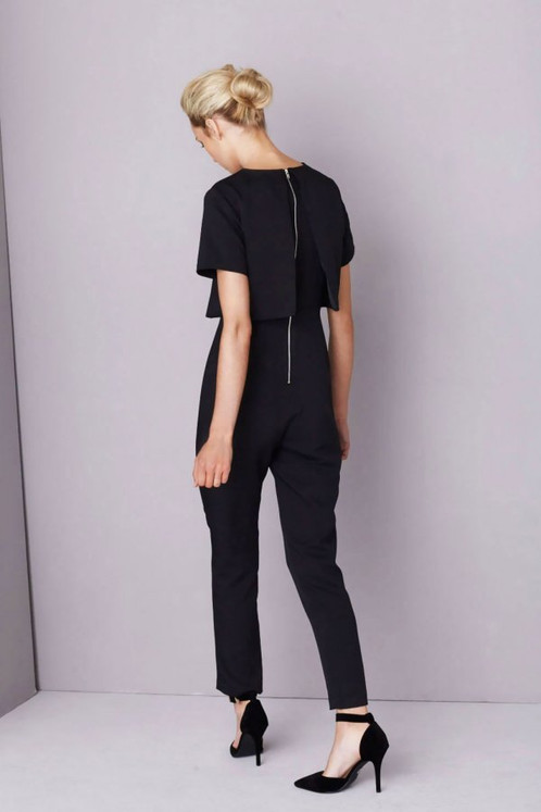 4938507e021 This black cropped jumpsuit by Lavish Alice is minimal effort