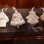 Set of gingerbread decorations
