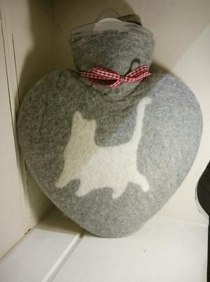 Kitten hot water bottle