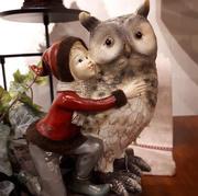 Christmas elf and owl