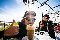 Always take a few minutes to enjoy a frothy coffee.