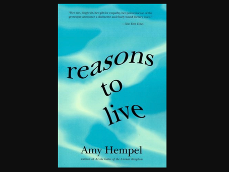 "Book Review: Amy Hempel's ""Reasons to Live"""
