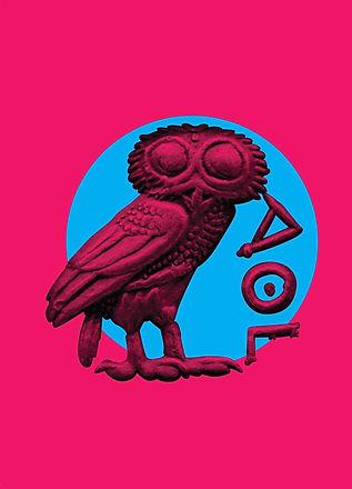 ancient greece, inspirational quote, design, postcard, souvenir, urban, vacation, Greece, owl