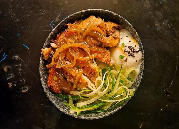 Brown Sauce Chicken Rice Bowl