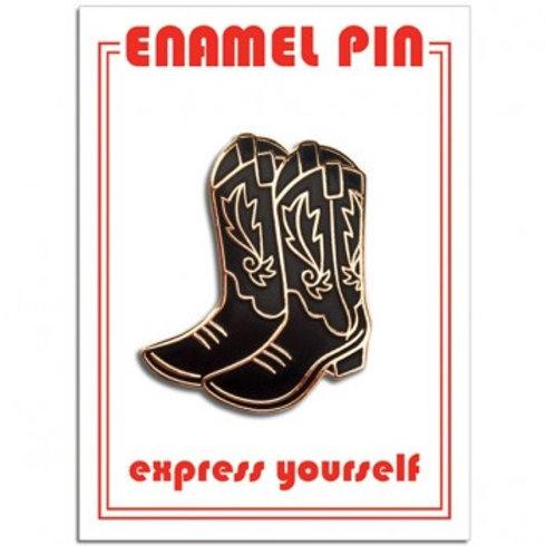Black Cowboy Boots Pin