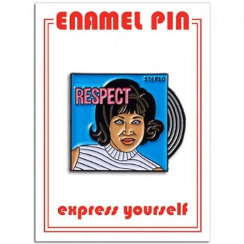 "Aretha ""Respect"" LP Pin"