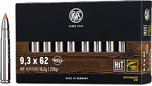 RWS 9,3x62 HIT Short Barrel 16,2g 250gr