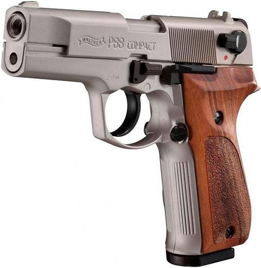Walther P88 Nikkel /Fa markolat 9mm PAK gázpisztoly