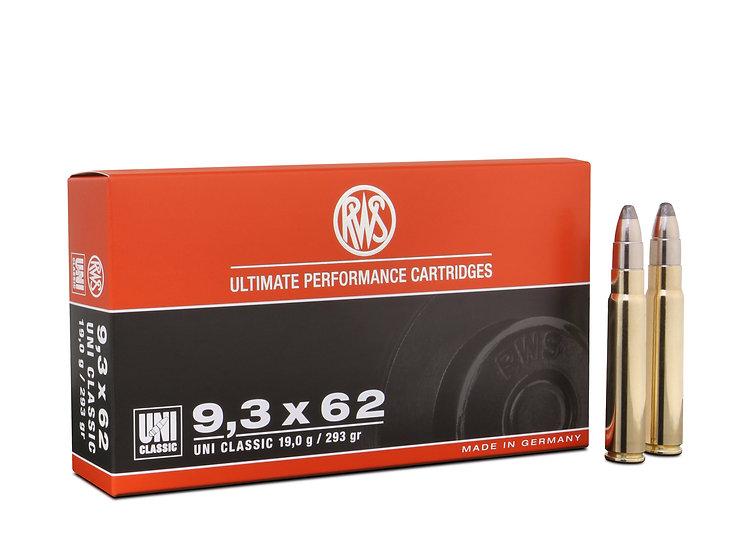 RWS 9,3x62 UNI Classic 19,0g 293gr