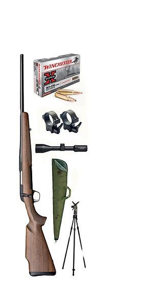 Browning X-bolt 30-06 MC Vadász szett lőbot L3 weaver szerelék optika tok