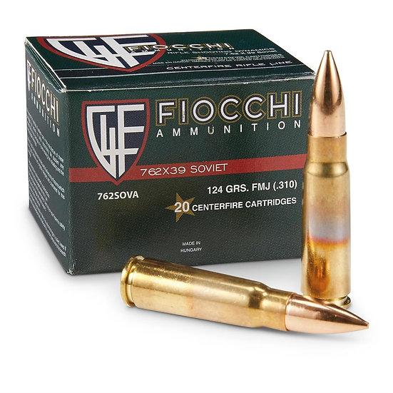 7,62x39 Fiocchi FMJ 124g