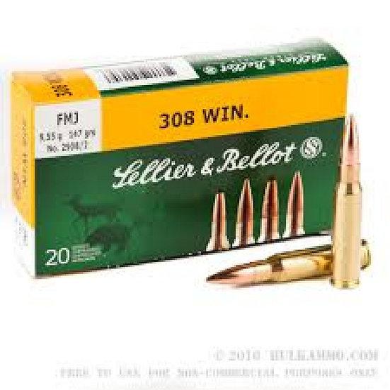 Sellier&Bellot 308 Win. golyós lőszer
