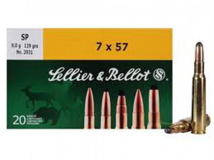Sellier&Bellot 7x57 R golyós lőszer