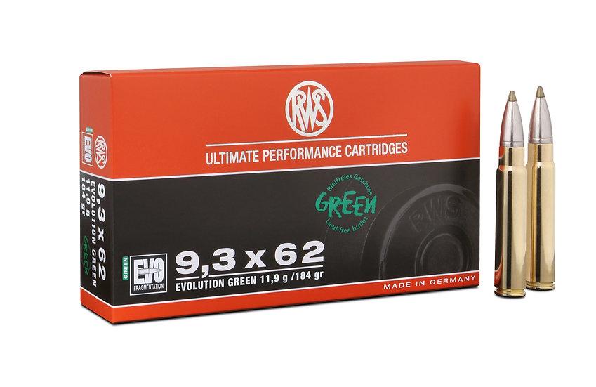 RWS 9,3x62 EVO green 11,9g 184gr