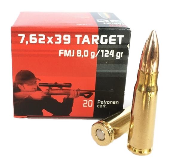 Geco 7,62x39 Target FMJ 8,0g 124gr