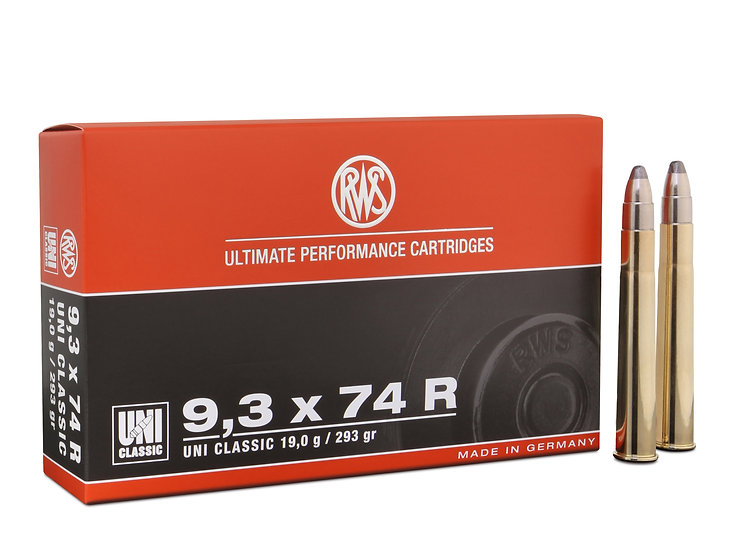 RWS 9,3x74R UNI Classic 19,0g 293gr