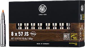 RWS 8x57JS HIT Short Barrel 10,4g 160gr