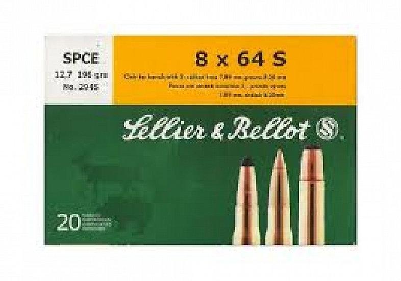 Sellier&Bellot 8x64 S golyós lőszer SPCE