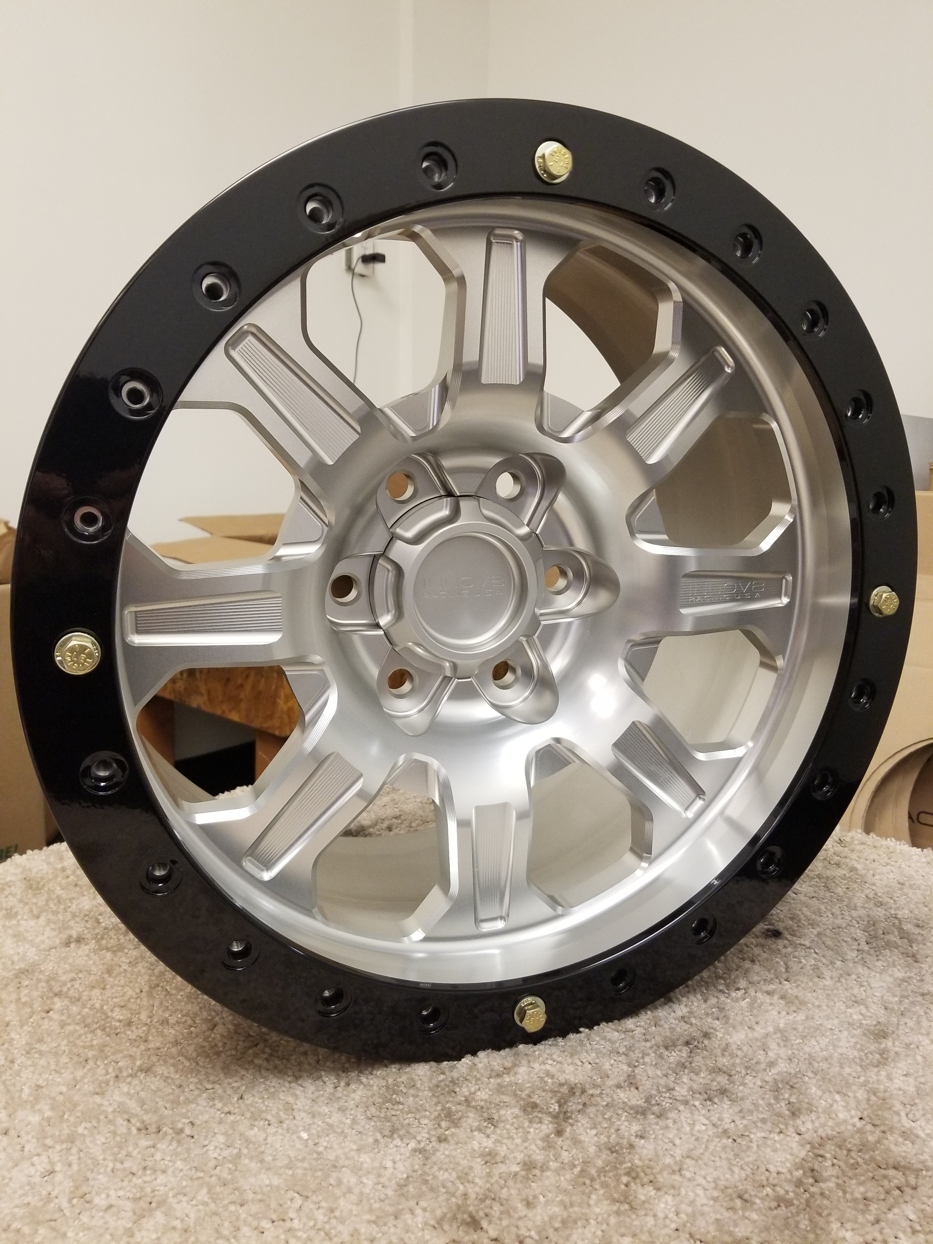 G500 Clear Ano 17in 6lug Beadlock STD