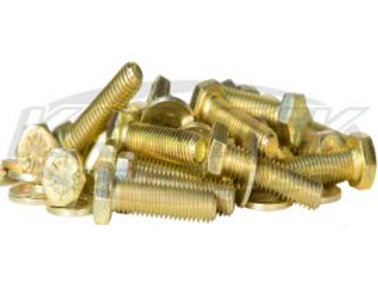 Grade 8 Beadlock Bolt Kit Yellow Zinc