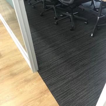 Carpet Tiles & Vinyl planks in this boardroom