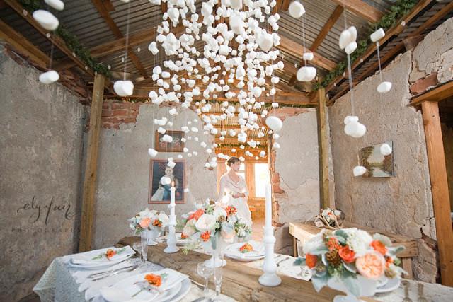Свадьба зимой: декор