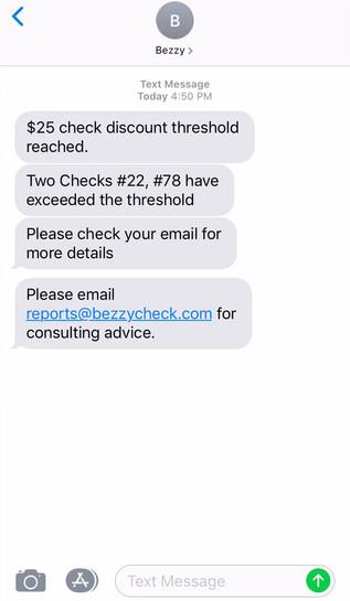 Bezzy Text Alert