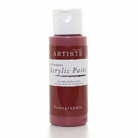 Akrylfärg - Pomegranate